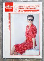 Patron Prima n°3.063 - Veste et Jupe-culotte femme