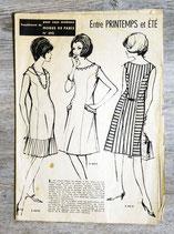Patron Modes de Paris n°855 - Robe vintage