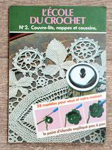 Livre L'école du crochet 2 - Couvre-lit, nappes et coussins