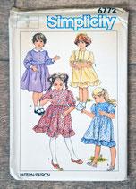 Pochette patron couture Simplicity 6772 - Robes filles
