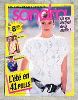 Magazine tricot Sandra n°48 - Juillet 1988