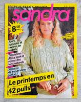 Magazine tricot Sandra n°32 - Mars 1987