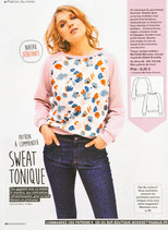 Patron de couture Modes & Travaux - Sweat tonique