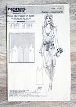 Patron de couture Modes & Travaux - Robe réversible en satin