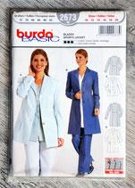 Pochette patron Burda n°2673 - Veste blazer dame