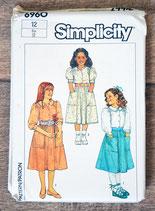 Pochette patron couture Simplicity 6960 - Jupe et blouse filles