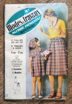 Patron couture Modes & Travaux 1095 - jupe dame et robe fille