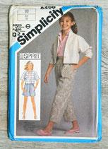 Pochette patron couture Simplicity 6499 - Ensemble fille