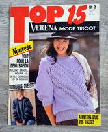 Magazine Verena Top 15 n°2 - Février 1989 (Tricot)