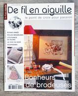 Magazine De fil en aiguille n°41 - Bonheurs de brodeuses