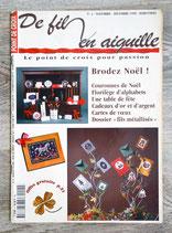 Magazine De fil en aiguille n°4 - Brodez Noël
