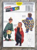 Pochette patron Burda n°4669 - 3 déguisements bébé