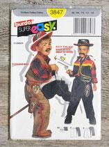 Pochette patron Burda 3847 - Déguisement cowboy