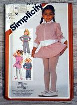 Pochette patron couture Simplicity 5775 - Ensemble fille