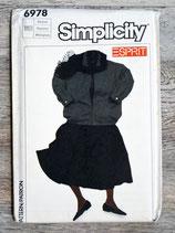 Pochette patron couture Simplicity 6978 - Ensemble fille taille M
