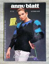Magazine tricot Anny Blatt n°113 - Automne-hiver