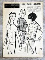 Patron Modes de Paris n°838 - Ensemble femme vintage