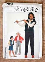 Pochette patron couture Simplicity 7056 - Ensembles fille taille 8 ans