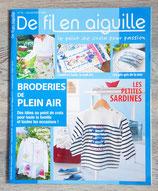 Magazine De fil en aiguille n°70 - Broderies de plein air