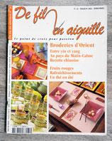 Magazine De fil en aiguille n°31 - Broderies d'Orient
