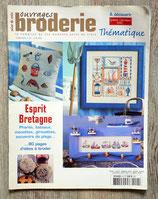 Magazine Ouvrages broderie Thématique 24 - Esprit Bretagne