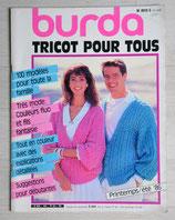 Magazine Burda tricot E844 - Printemps-été 86