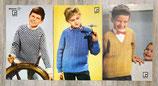 Lot de 3 fiches tricot - Tricot garçon (Vintage)