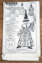 Patron de couture Modes & Travaux - déguisement de magicien pour enfant et poupée