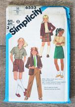 Pochette patron couture Simplicity 6553 - Ensembles fille