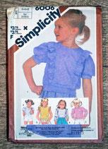 Pochette patron couture Simplicity 6006 - Haut fille 3-5 ans