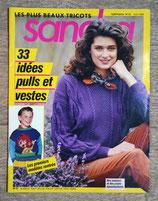 Magazine tricot Sandra 61 - Août 1989