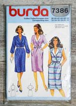 Pochette patron Burda n°7386 - Robe (Vintage)