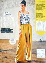 Patron de couture Modes & Travaux - Pantalon large à plis