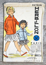 Patron de couture Herbillon F40874 - Ensemble veste et jupe