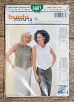Pochette patron Burda 8987 - Top femme