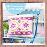Livre Mes créations Tricot facile 10 - 8 coussins vintage