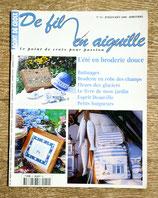Magazine De fil en aiguille 14 - L'été en broderie douce