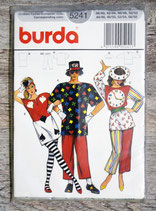 Pochette patron Burda 5241 - Costume Jocker, carte à jouer pour adulte