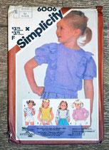 Pochette patron couture Simplicity 6006 - Haut fille 4-6 ans