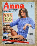 Magazine Anna Burda ouvrages manuels 4/1982