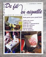 Magazine De fil en aiguille n°17 - Petits points pour grand froid