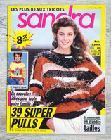 Magazine tricot Sandra n°56 - Mars 1989