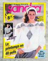 Magazine tricot Sandra n°57 - Avril 1989