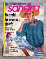 Magazine tricot Sandra n°69 - Avril 1990