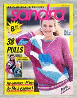 Magazine tricot Sandra n°49 - Août 1988