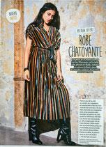Patron de couture Modes & Travaux - Robe chatoyante