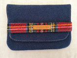 Clutch aus Harris Tweed (dunkelblau/Stewart)