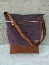 Shopper aus Harris Tweed (Pflaume)