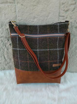 Shopper aus Harris Tweed (braun/karamell)