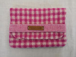Clutch aus Harris Tweed (pinkweiß)